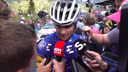 """VIDEO. Nuchtere Serry na vijfde plaats in Giro-rit: """"Die Colombianen, dat zijn kerels"""""""