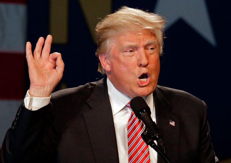 Donald Trump zakt verder weg in de peilingen. Beeld AP