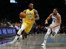 LeBron James leidt Lakers langs Brooklyn Nets