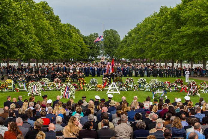 Margraten op 26 mei 2019: Memorial Day in Margraten  waar onder meer Stef Blok, Theo Bovens en de Amerikaanse ambassadeur in Nederland Pete Hoekstra bij aanwezig waren.
