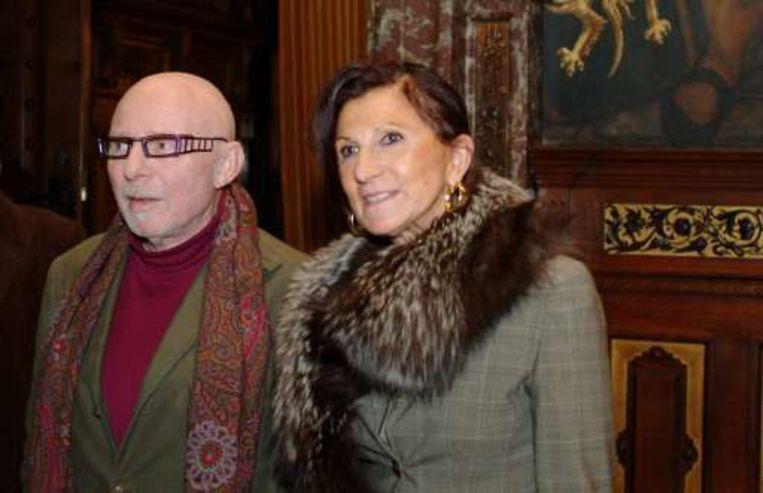 Jef Geeraerts en echtgenote Eleonore Vigenon. Zij overleed in 2008.