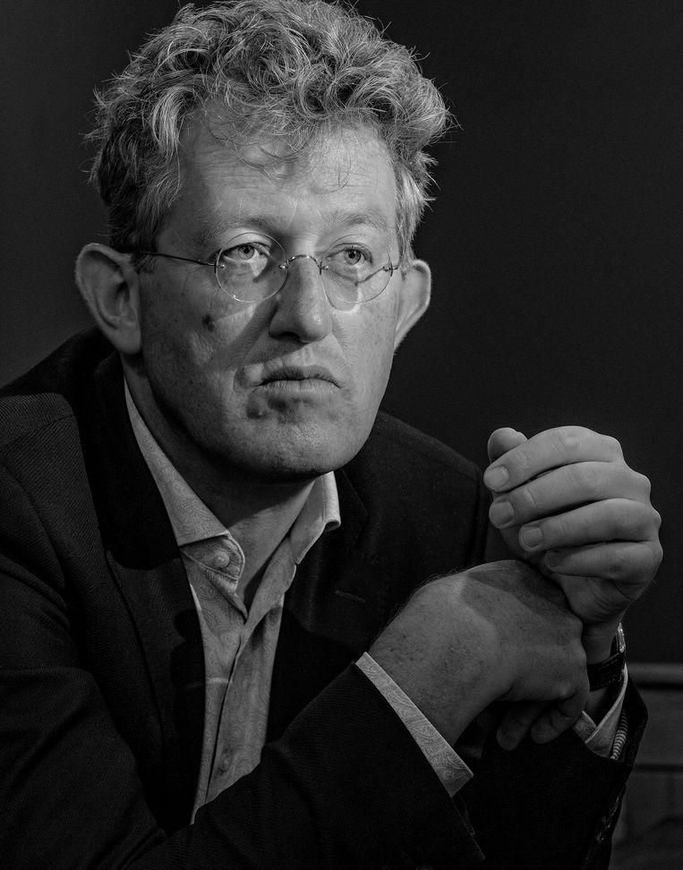 Portret van theoloog Remmelt Meijer in het inloopcafé in Amsterdam Zuidoost. Beeld Patrick Post