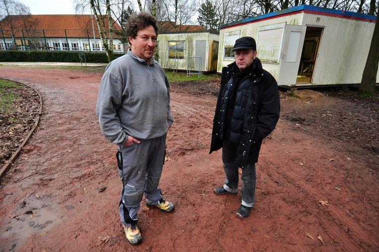 Trainer Ronald Sevenich en bezorgde ouder Peter Timmers haalden in het verleden de slechte toestand aan van de piste aan Mariaheide.
