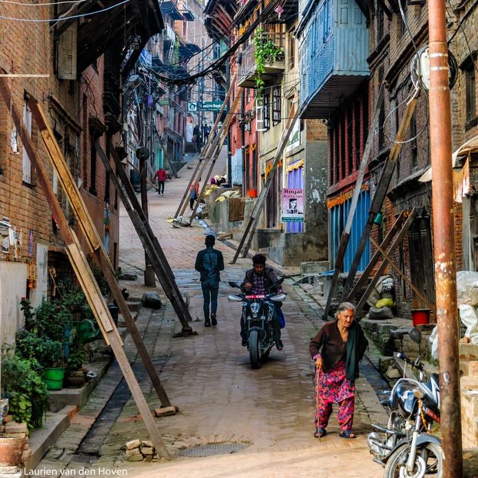 Fototentoonstelling over Nepal.