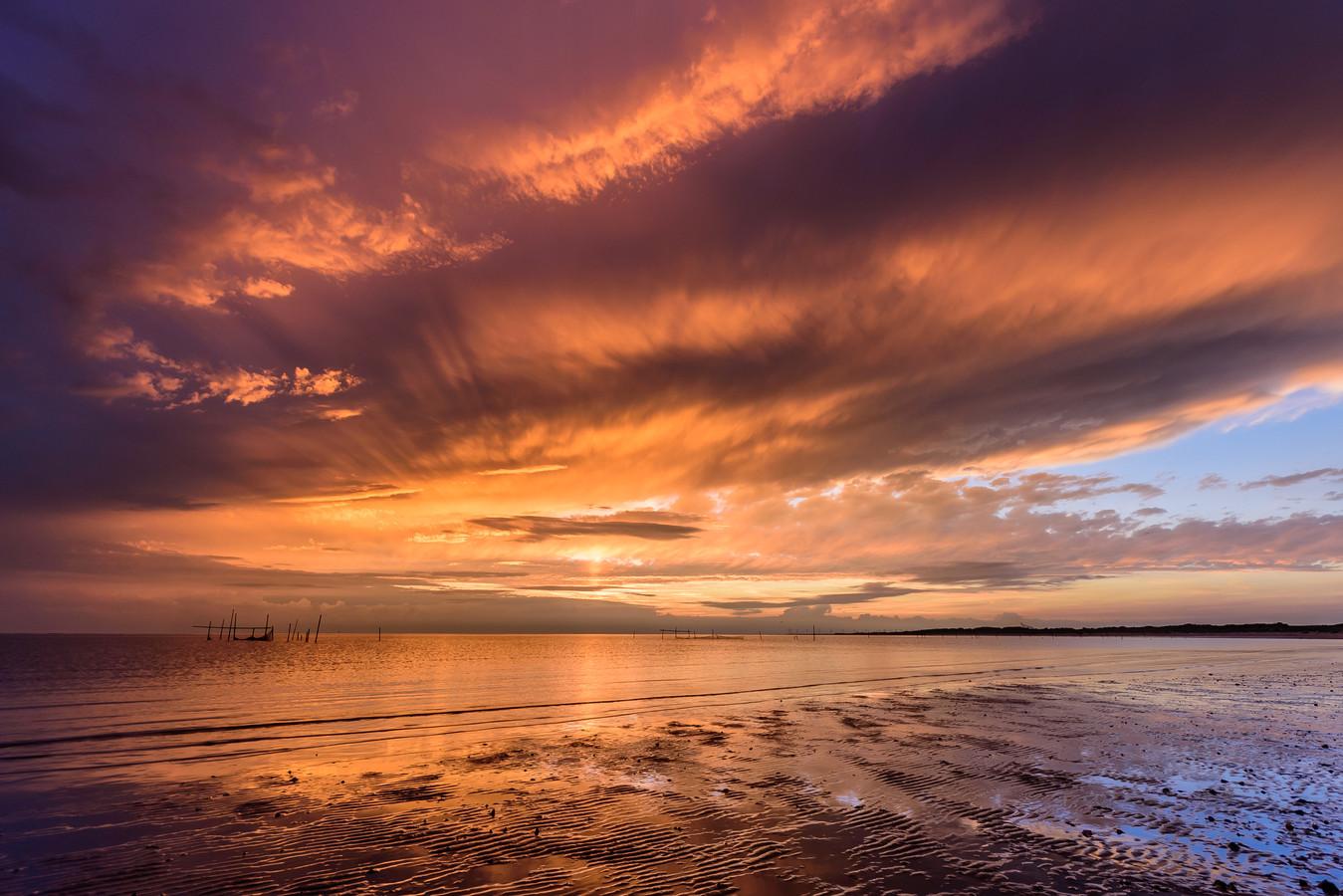 Het liefst fotografeert Ellen van den Doel landschappen zoals hier op Voorne-Putten en Goeree-Overflakkee. Onder: Ellen van den Doel.