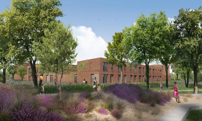 Impressie van woningen in het 'Componistenkwartier' achter ROC De Leijgraaf in Oss.