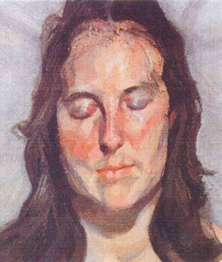 Lucian Freud 'Woman with Eyes Closed' (2002) Beeld