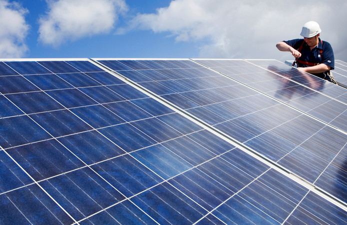 Zonnepanelen dragen bij aan energiebesparing.