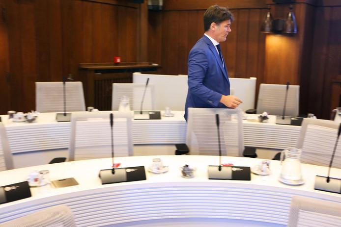 Raadsvergadering gemeente Breda. Burgemeester Paul Depla.
