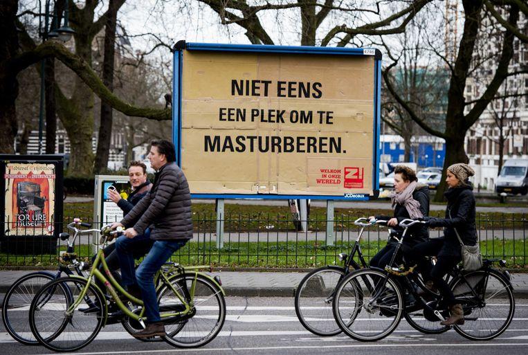 Amsterdam had in 2014 een campagne met als doel daklozen weer een gezicht te geven. Beeld anp