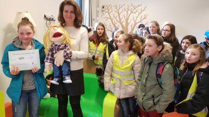 Leerlingen Tramstraat zamelen geld in  voor Yolo-ruimte AZ Turnhout
