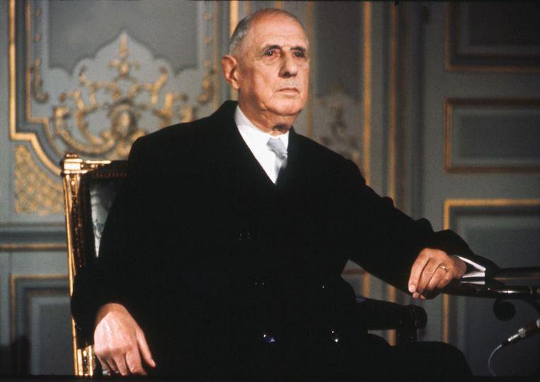 Charles de Gaulle in 1968. Beeld AFP