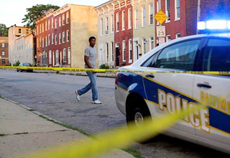 Archieffoto: politiewagen in Baltimore.