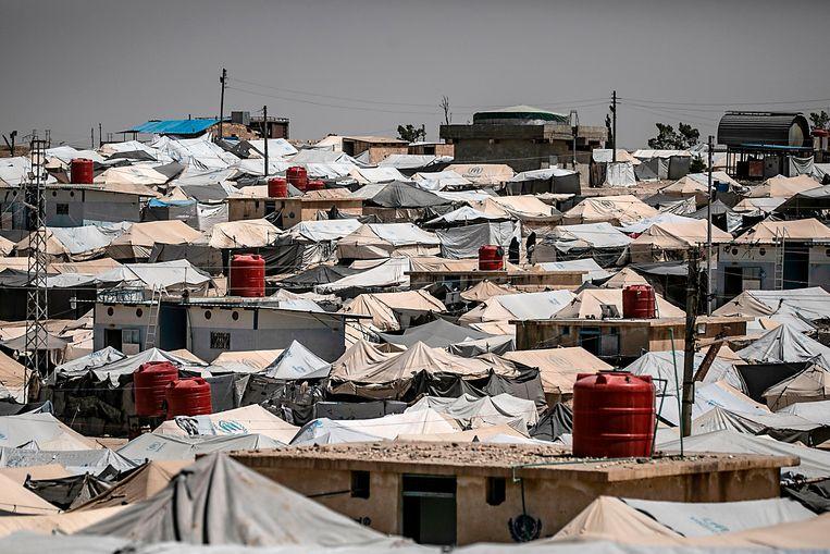 """In Al-Hol leven ongeveer 70.000 mensen. """"Dit is geen kamp meer, maar een stad"""", aldus Stone."""