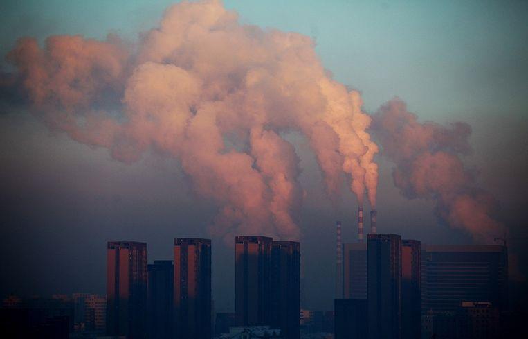 Een kolencentrale in China Beeld afp