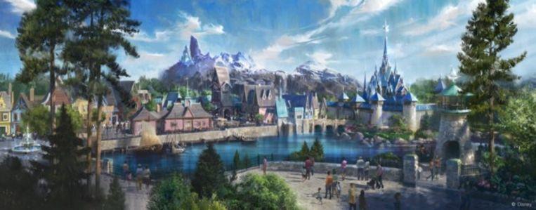 Illustratie toont hoe 'Frozen Land' in Disneyland Paris eruit zal zien.