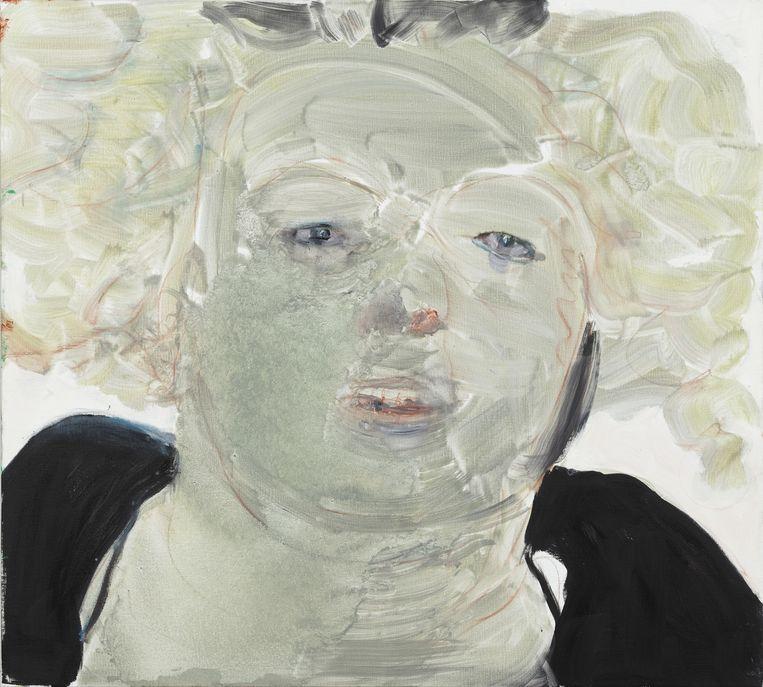 Self Portrait at Noon, Marlene Dumas. Beeld -