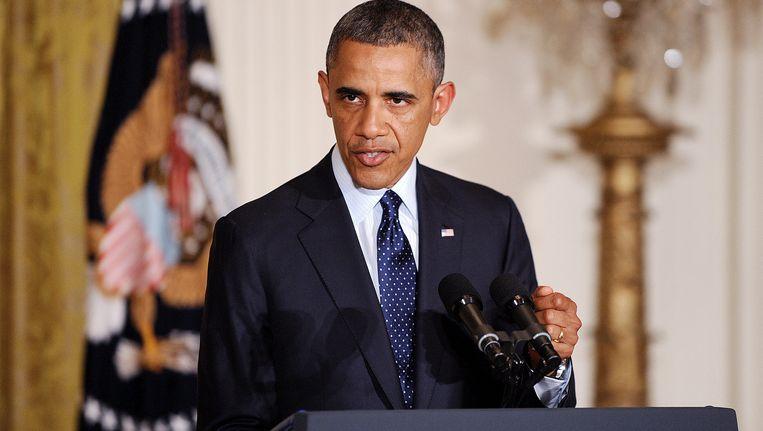 President Obama, gisteren in het Witte Huis. Beeld EPA