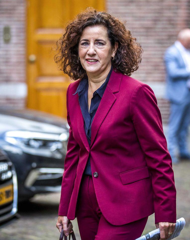 Minister Ingrid van Engelshoven (Cultuur) op het Binnenhof voor de wekelijkse ministerraad. Beeld ANP/Remko de Waal
