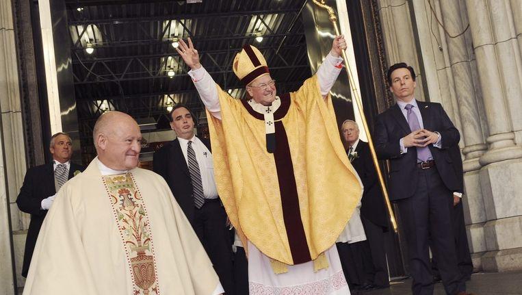 De Amerikaanse aartsbisschop Timothy Dolan. Beeld epa