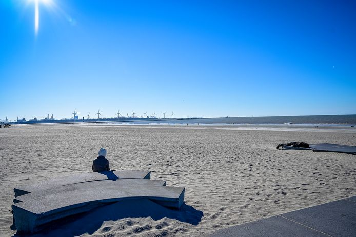Lege stranden in Hoek van Holland.