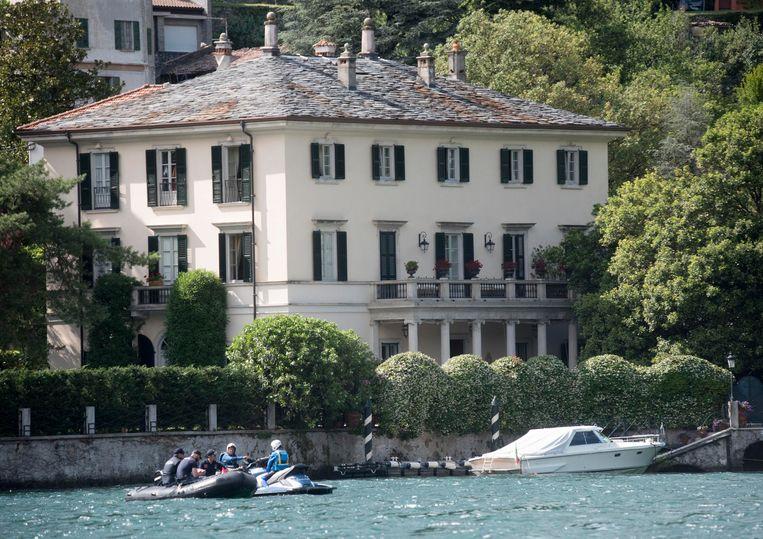 De veiligheid rond Villa Oleandra, het buitenverblijf van George Clooney, werd scherp verhoogd.