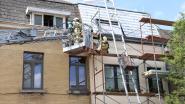 Rookontwikkeling aan dakgoot door verfbrander