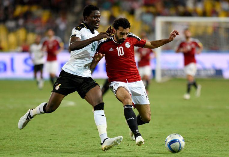 Daniel Amartey in duel met Mo Salah.