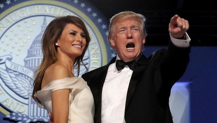 Melania en Donald Trump op een gala na de inauguratie Beeld epa