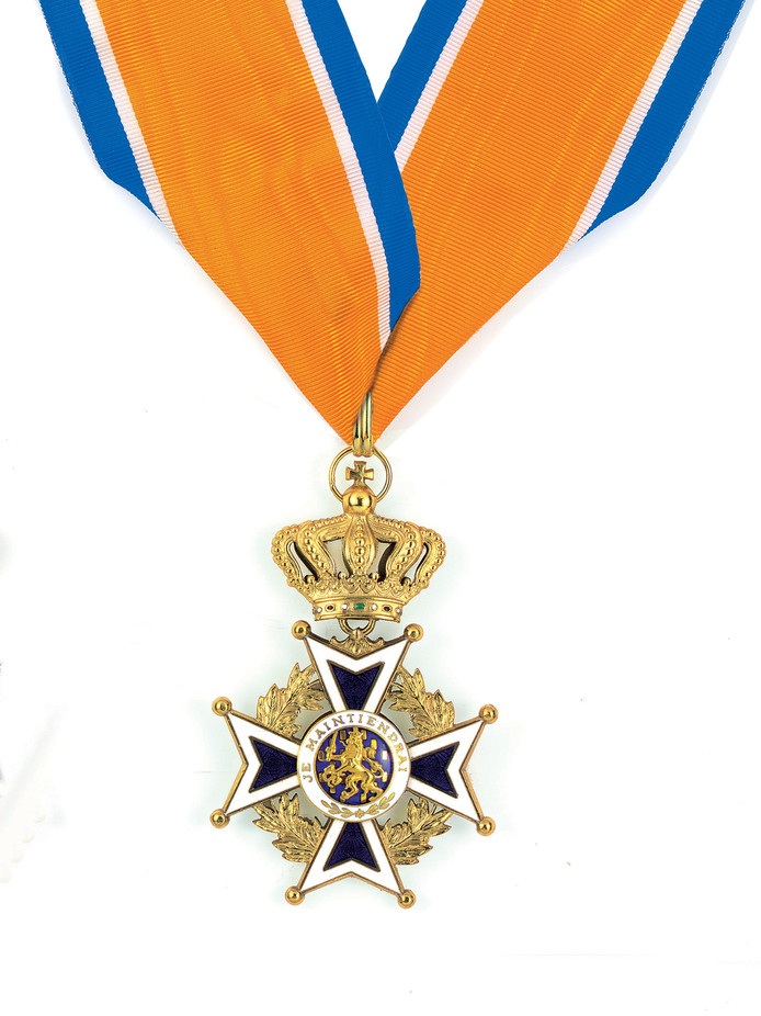 Onderscheiding Commandeur in de Orde van Oranje-Nassau.