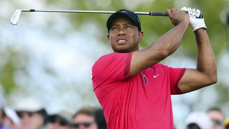 Tiger Woods tijdens een van zijn laatste optredens in Miami begin maart.