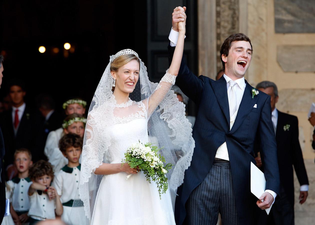 Le prince Amedeo et Elisabetta à leur mariage