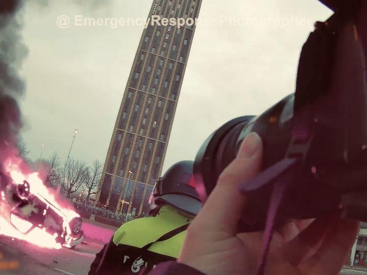 Schokkende bodycambeelden: dit ziet een fotograaf tijdens de rellen in Eindhoven