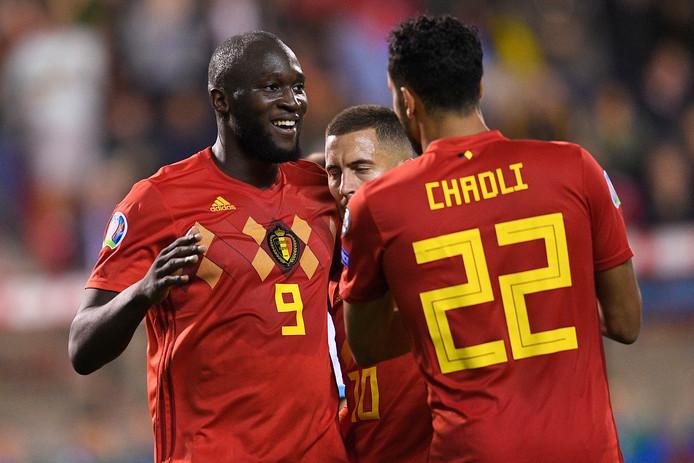 Romelu Lukaku maakte vanavond zijn 50ste goal voor België.