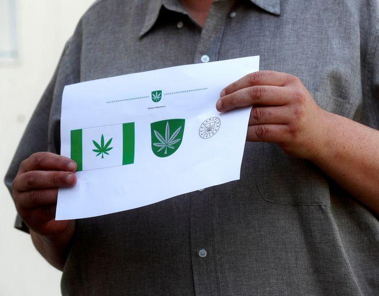 Een cannabisblad prijkt voortaan in het logo van de Estse stad Kanepi.