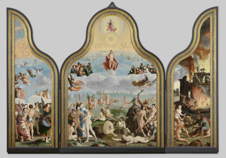 Het Laatste Oordeel van schilder Lucas van Leyden Beeld Lucas van Leyden