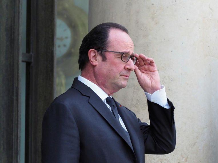 De Franse president Francois Hollande. Beeld ap