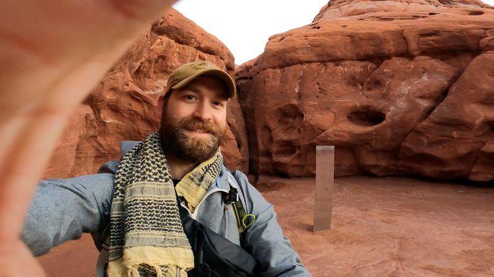 David Surber is een van de reizigers die het voorwerp al wist te bewonderen.
