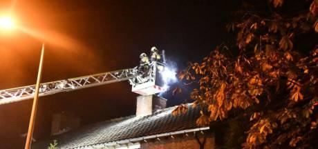 Hogelandsingel in Enschede afgesloten na schoorsteenbrand