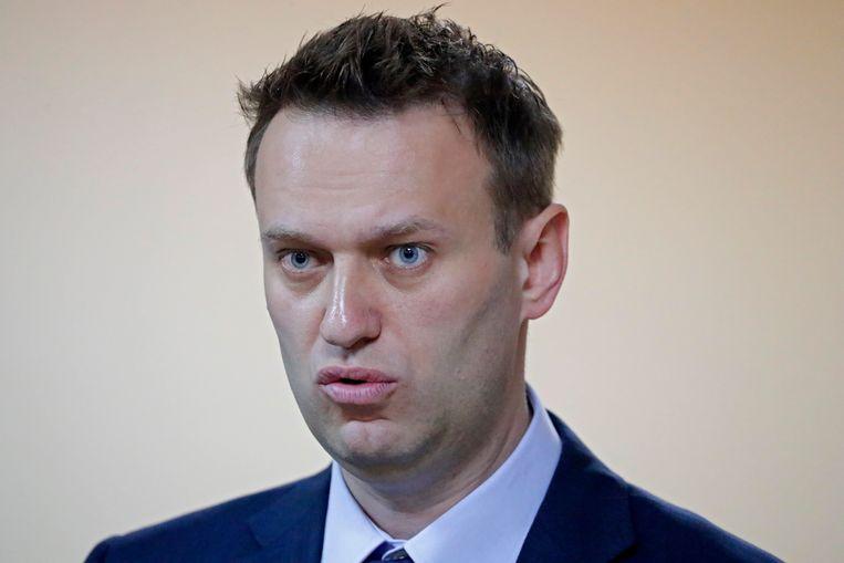 De Russische blogger en oppositieleider Aleksej Navalny. Beeld EPA/SERGEI ILNITSKY