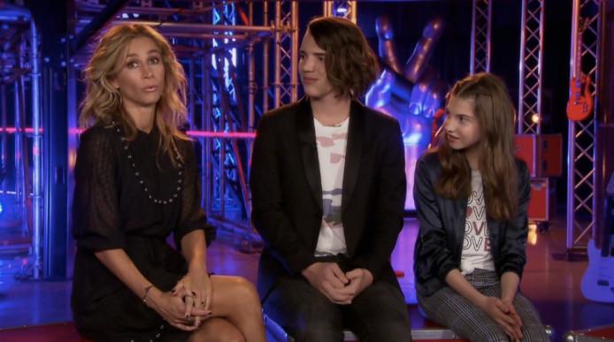 Wendy van Dijk met talenten in The Voice Kids