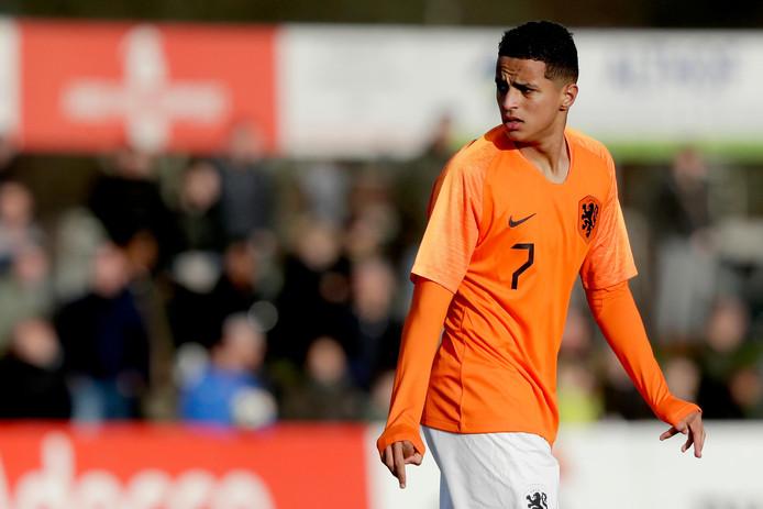 Mohamed Ihattaren bij Oranje onder-19