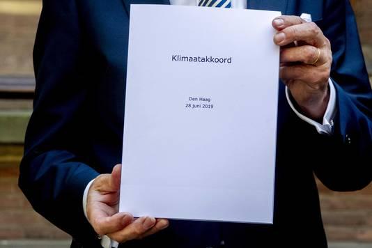Presentatie van het Klimaatakkoord, een groot pakket maatregelen om de komende decennia de uitstoot van broeikasgassen terug te dringen.