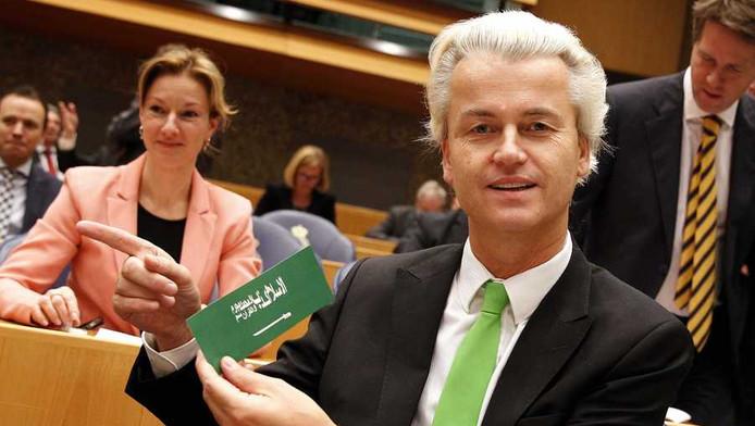 Geert Wilders met een islamsticker