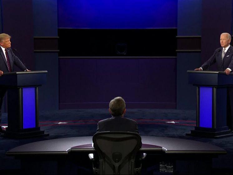 Debat tussen Biden en Trump loopt compleet uit de hand