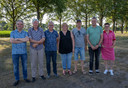 De familie Van Horik, v.l.n.r.: Rien, Harrie, Bart, Marijke, Michel, Mark en Chantal.