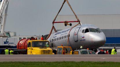 Zwarte dozen van in brand gevlogen Russisch vliegtuig zwaar beschadigd