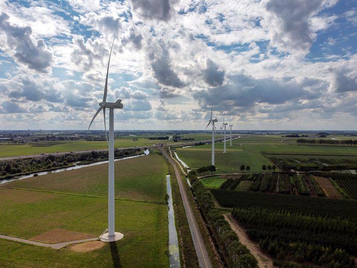 Windmolens in Kesteren.