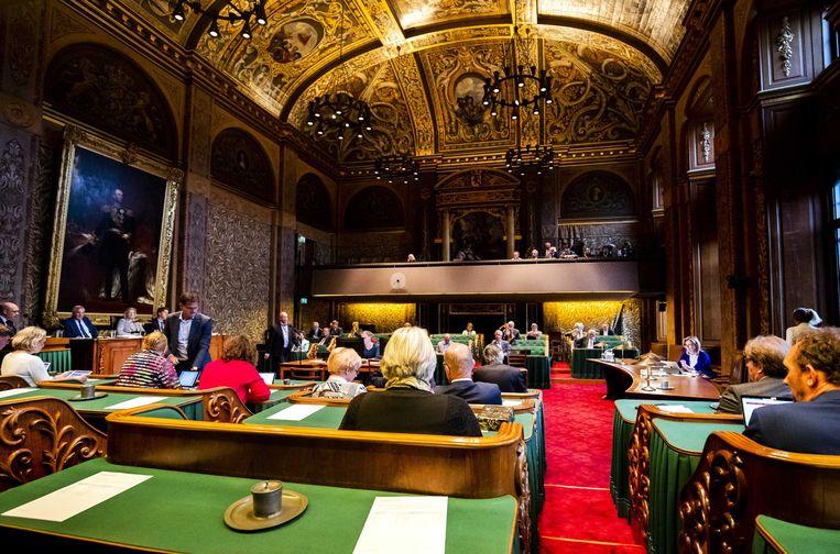 De vergaderzaal van de Eerste Kamer in Den Haag.  Beeld ANP