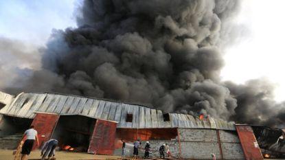 Vlammenzee vernielt humanitaire hulp in haven Jemen